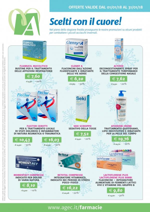 Promozione nelle Farmacie Cittadine AGEC - gennaio 2018
