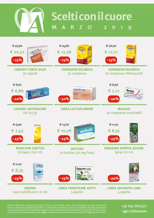 Promozioni Farmacie Cittadine - Marzo 2019