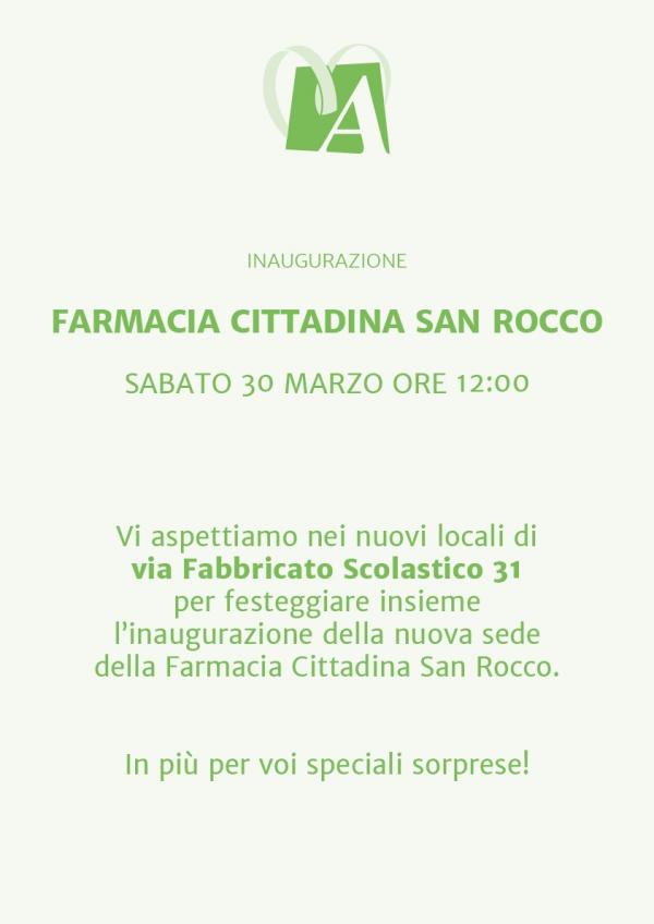Inaugurazione Farmacia Cittadina San Rocco