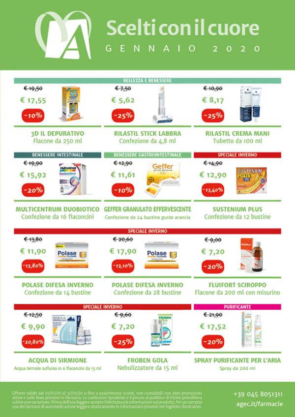 Promozioni nelle Farmacie Cittadine A.G.E.C. - Gennaio 2020